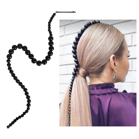 accessoires pour cheveux imitation perle fait main perlé tendance de la mode coiffe chaîne de cheveux NHCT226757's discount tags