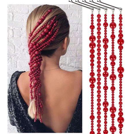 pince à cheveux perle accessoires pour cheveux ABS imitation perle chaîne de cheveux accessoires pour cheveux NHCT226758's discount tags