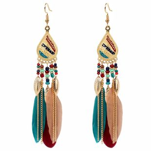 earrings jewelry exaggerated ethnic style feather earrings simple earrings NHCT226769's discount tags