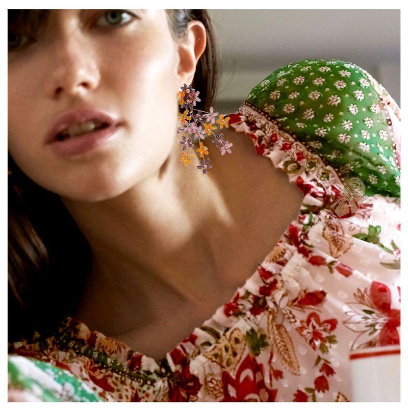 Daisy Earrings Fresh Flowers Cute Earrings Girl Heart Simple Earrings Earrings NHCT226770