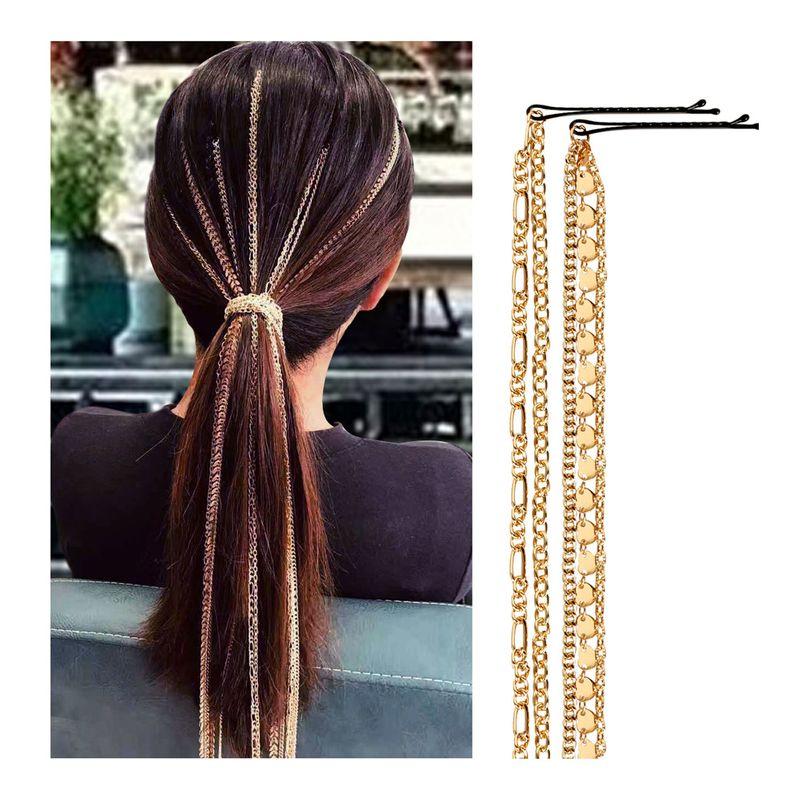 new metal tassel hair accessories hair chain hair lead chain headwear NHCT226773