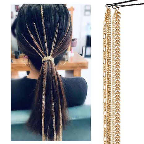 accessoires de cheveux de mode perruque chaîne d'extension bijoux sauvages chaîne de tête mot clip chaîne de cheveux NHCT226774's discount tags