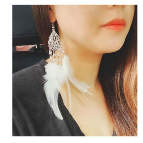 boucles d'oreilles pompon géométrique de mode boucles d'oreilles plumes de tir simples NHCT226779's discount tags