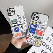 boarding pass phonecase for iphone 11pro/XS/xr two-color anti-fall painted protective sleeve wholesale nihaojewelry NHKI226833