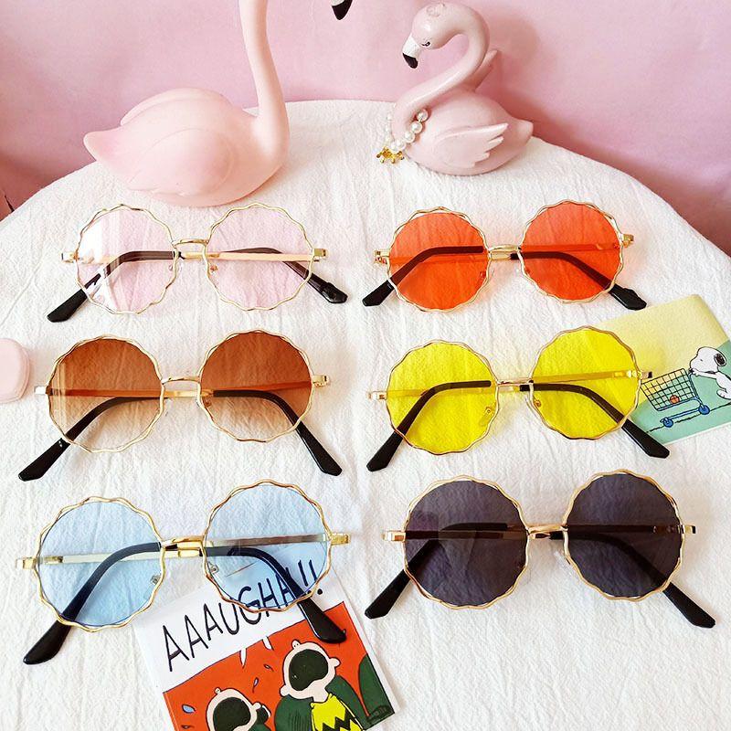 round frame baby round lace childrens sunglasses antiUV treasure sunglasses wholesale nihaojewelry NHBA226842