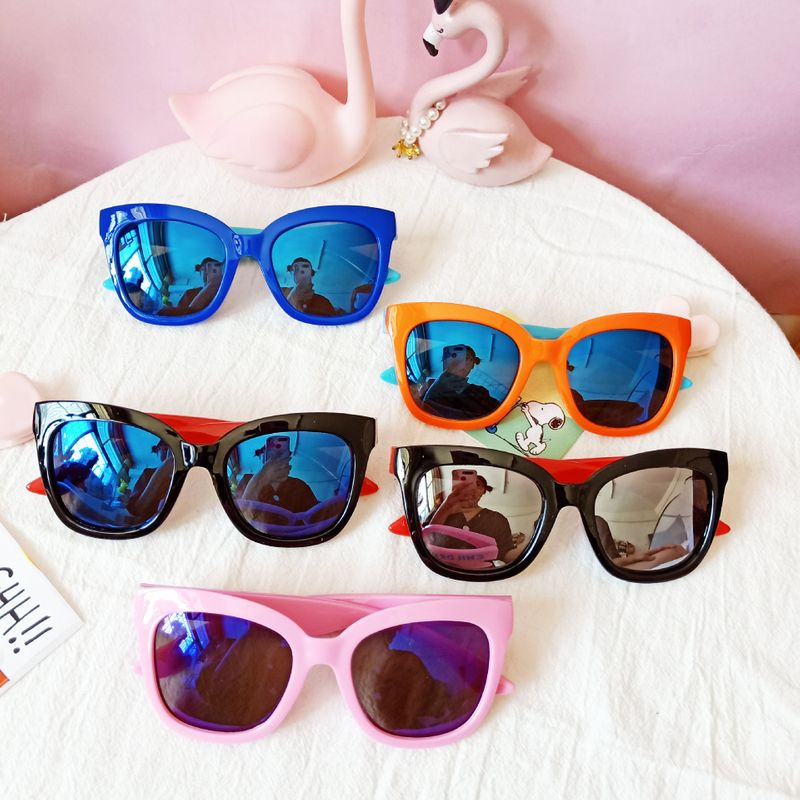Children's square polarized sunglasses new silicone color film sunglasses fashion tide kids glasses wholesale nihaojewelry NHBA226847