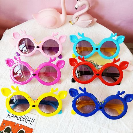 Animal cartoon cute deer bambi sunglasses colorful gradient children sunglasses wholesale nihaojewelry NHBA226852's discount tags