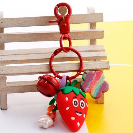 Simulation melon vegetable fruit keychain cartoon three-dimensional fruit doll car ornaments bag pendant wholesale nihaojewelry NHDI226907's discount tags