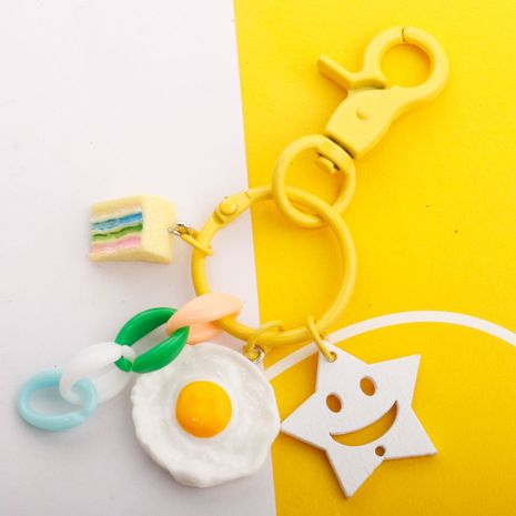 Simulation Food Sandwich Fruit Keychain Smiley Pendant Paint Dog Buckle Pendant  wholesale nihaojewelry NHDI226915's discount tags
