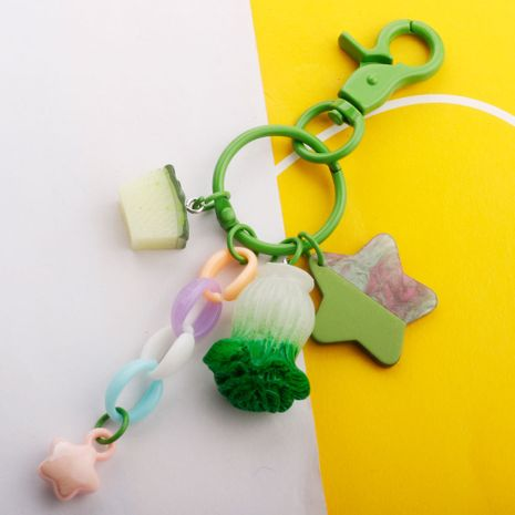 Simulation vegetable and fruit key chain cabbage car ornaments jewelry wholesale nihaojewelry NHDI226921's discount tags
