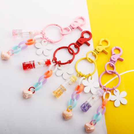 Eternal Flower Wishing Bottle Keychain Love Pendant Color Chain Bag Charm Glass Bottle Gift  NHDI226927's discount tags