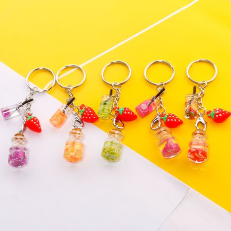 Simulation fruit juice key ring student mobile phone pendant cute creative gift wholesale nihaojewelry NHDI226932's discount tags