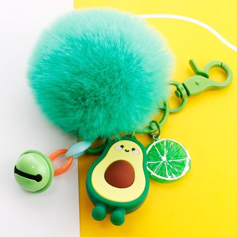 simulation 3D avocado key ring soft rubber classification trash can coin purse pendant wholesale nihaojewelry NHDI226955's discount tags