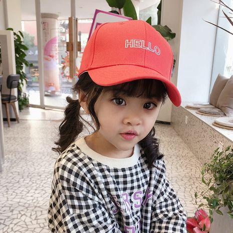 Sombrero para el sol para niños niñas sombrero bordado HOLA gorra de béisbol al por mayor nihaojewelry NHTQ226968's discount tags