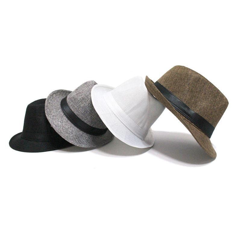 Hat sunscreen hat mens sun hat straw hat jazz straw hat hot sale wholesale nihaojewelry NHTQ226982