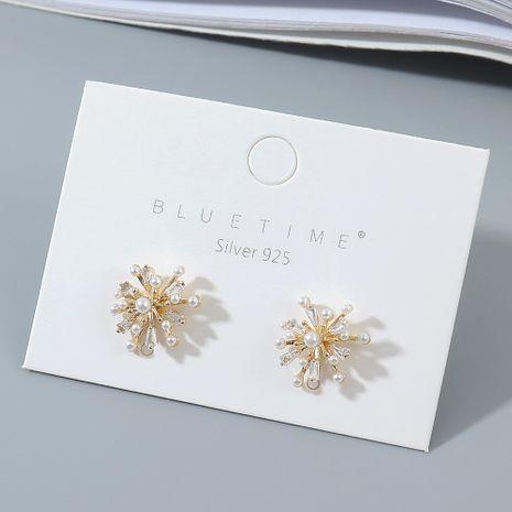 véritable plaqué or compact et polyvalent mode mode populaire perle S925 argent aiguille en gros boucle d'oreille nihaojewelry NHPS227048's discount tags