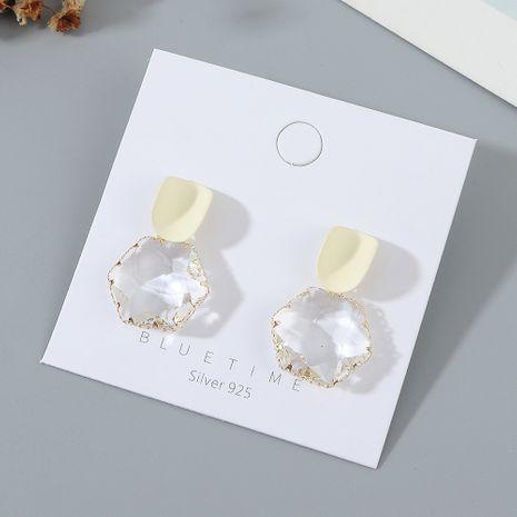 plaqué or mode simple créatif mat S925 aiguille d'argent boucle d'oreille  en gros nihaojewelry NHPS227056's discount tags