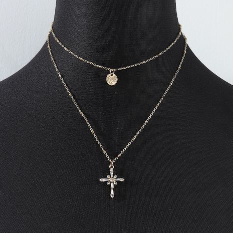 fashion wild double cross necklace wholesale nihaojewelry NHPS227073's discount tags