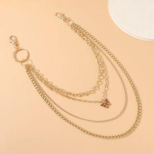 Moda coreana personalidad simple flor salvaje mariposa señoras pantalones cadena al por mayor nihaojewelry NHPS227083's discount tags