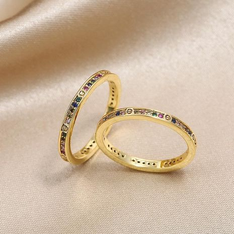 Hot sale colorful zircon women's fashion ring NHKQ192341's discount tags