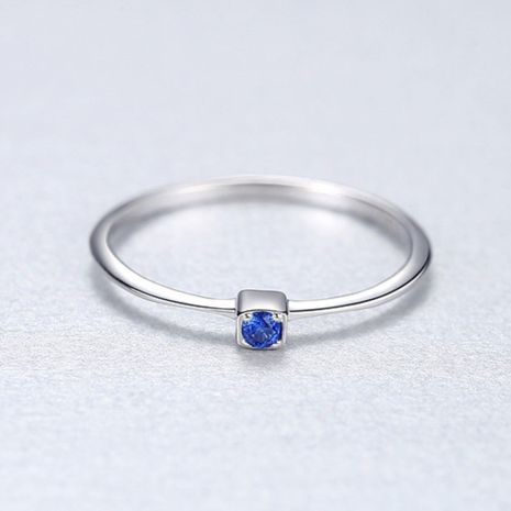 New  fashion simple S925 Sterling Silver Gemstone  Wild Ring nihaojewelry wholesale NHKL227094's discount tags