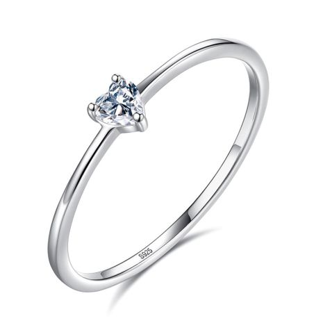 fashion s925 sterling silver ring simple solitaire ring nihaojewelry wholesale NHKL227095's discount tags
