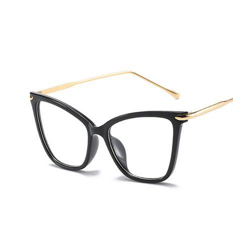 gafas de montura grande montura ojo de gato retro nuevas damas espejo plano moda marea montura de gafas de metal NHKD227133's discount tags