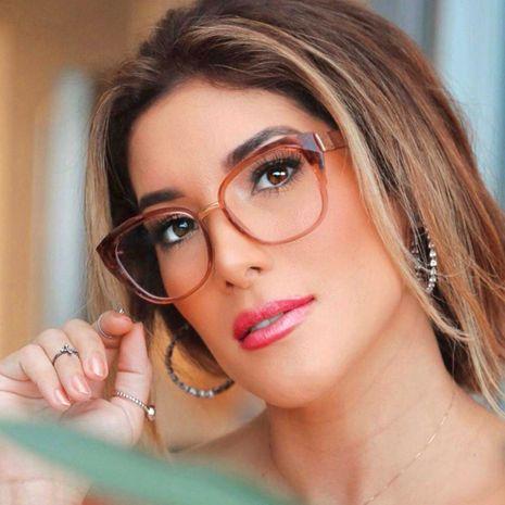 Gafas ópticas de moda mujer tr90 gafas ultraligeras con montura retro marco redondo espejo plano hombres NHFY227149's discount tags