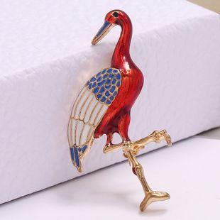Korean fashion simple flamingo temperament brooch  wholesale nihaojewelry NHSC221636's discount tags