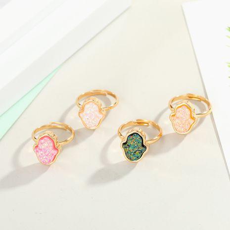 nouveaux bijoux imitation cristal bourgeon bergamote anneau imitation pierre naturelle Fatima doigt anneau bague réglable en gros nihaojewelry NHGO221337's discount tags