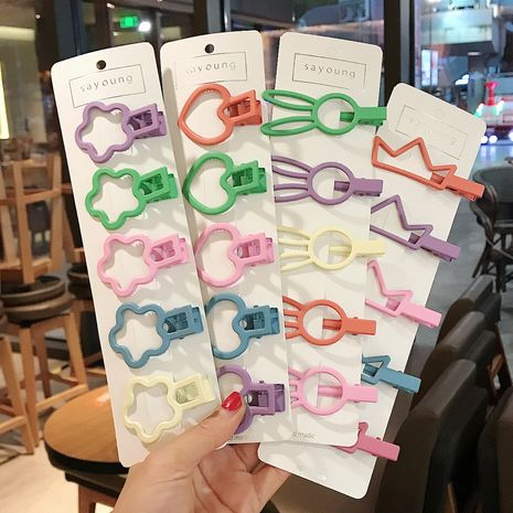 Korea hairpin side clip girl color hairpin headdress children cute small clip simple style bangs clip  wholesale nihaojewelry NHDQ221344's discount tags