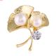 Korean fashion simple foliage temperament brooch  wholesale nihaojewelry NHSC221634