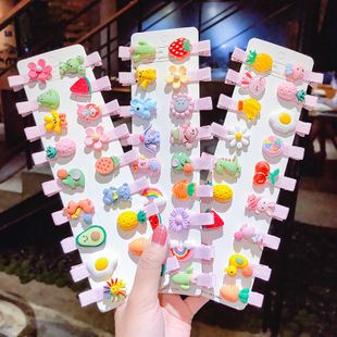 Korean children's hairpin cute bag fruit hairpin headdress clip girl baby duckbill clip cartoon hair accessories wholesale nihaojewelry NHNA221362's discount tags