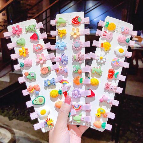 Épingle à cheveux pour enfants coréens mignon sac fruits en épingle à cheveux coiffe clip fille bébé bec de canard clip accessoires de cheveux de dessin animé en gros nihaojewelry NHNA221362's discount tags