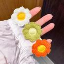Tissu tricot fleur pingle  cheveux  double usage accessoires pour cheveux Core du Sud style mignon petite fleur bec de canard clip pingle  cheveux mode en gros nihaojewelry NHNA221369