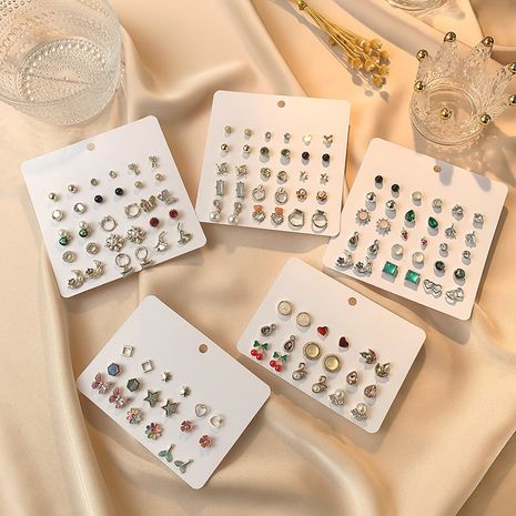Boucles d'oreilles coréennes ensemble de nouvelles boucles d'oreilles tempérament boucles d'oreilles de mode rétro combinaison boucles d'oreilles en gros nihaojewelry NHSD221399's discount tags