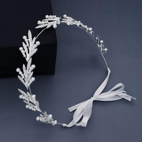 New jewelry creative daily simple hair hoop pearl handmade headband bridesmaid dress headdress bride wedding hair band  wholesale nihaojewelry NHHS221411's discount tags