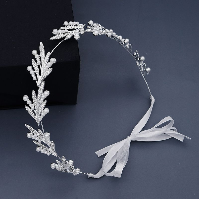 New jewelry creative daily simple hair hoop pearl handmade headband bridesmaid dress headdress bride wedding hair band  wholesale nihaojewelry NHHS221411