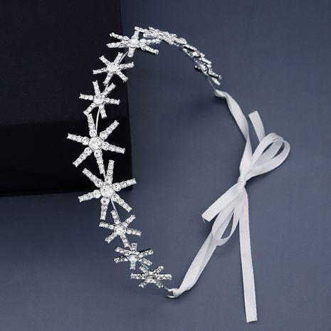 Korean daily headdress simple star streamer full diamond hair band light luxury rhinestone head band bridesmaid hair jewelry  wholesale nihaojewelry NHHS221413's discount tags