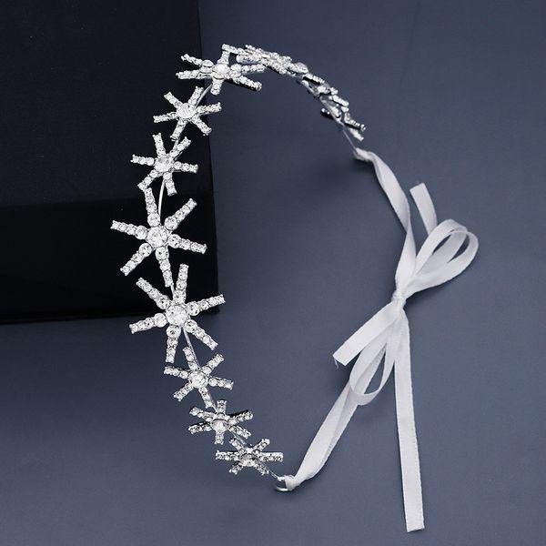Korean daily headdress simple star streamer full diamond hair band light luxury rhinestone head band bridesmaid hair jewelry  wholesale nihaojewelry NHHS221413