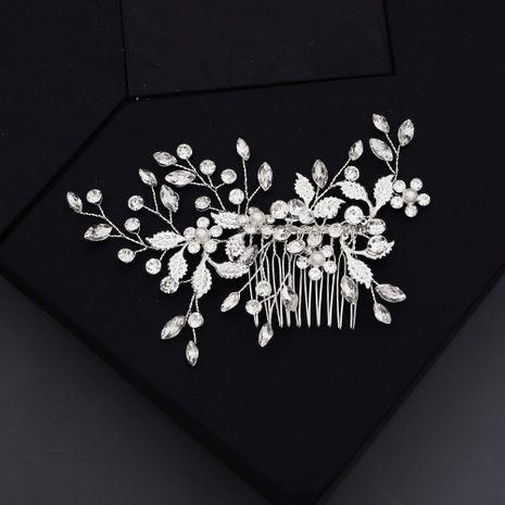 Accessoires de mariage photo de mariage à la main perle strass insert peigne élégant pan cheveux coiffure dîner toast robe accessoires en gros nihaojewelry NHHS221417's discount tags
