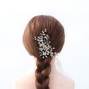 Accessoires de mariage photo de mariage  la main perle strass insert peigne lgant pan cheveux coiffure dner toast robe accessoires en gros nihaojewelry NHHS221417