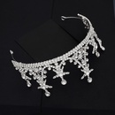 Highend custom wedding hair accessories Hansen sweet star crown earring set bride wedding dress accessories  wholesale nihaojewelry NHHS221418