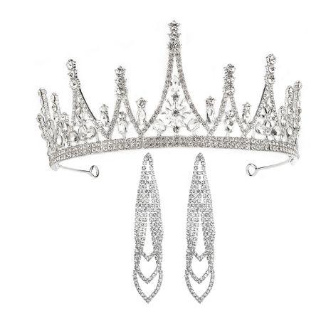 bridal crown earrings suit temperament ladies dress accessories iceberg shape birthday cake crown wholesale nihaojewelry NHHS221419's discount tags