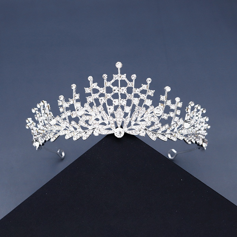 high set head jewelry crystal hair band bride wedding dress crown stage performance hair accessories wholesale nihaojewelry NHHS221422
