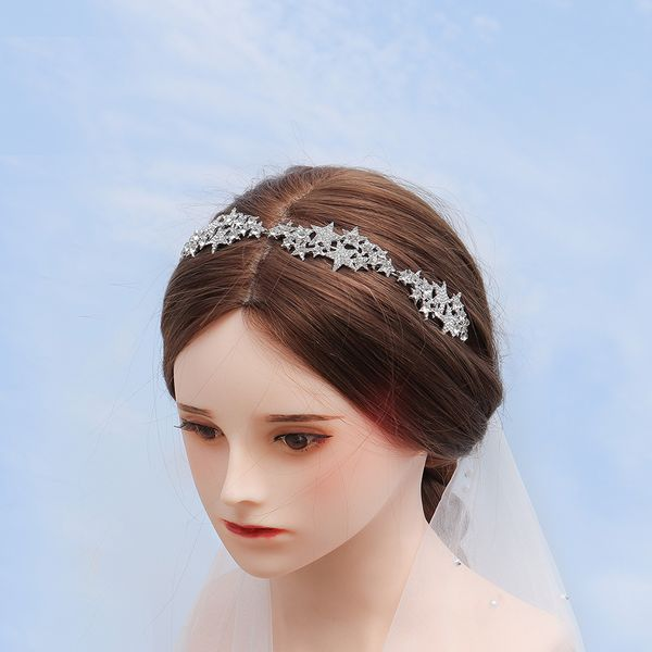 Korean fashion stars  crown bride fairy hair accessories rhinestone dream headdress wedding headband nihaojewelry  wholesale NHHS221426