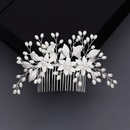 wedding jewelry forest alloy flowers inserted comb pearl handset diamond hair comb jewelry  wholesale nihaojewelry NHHS221429