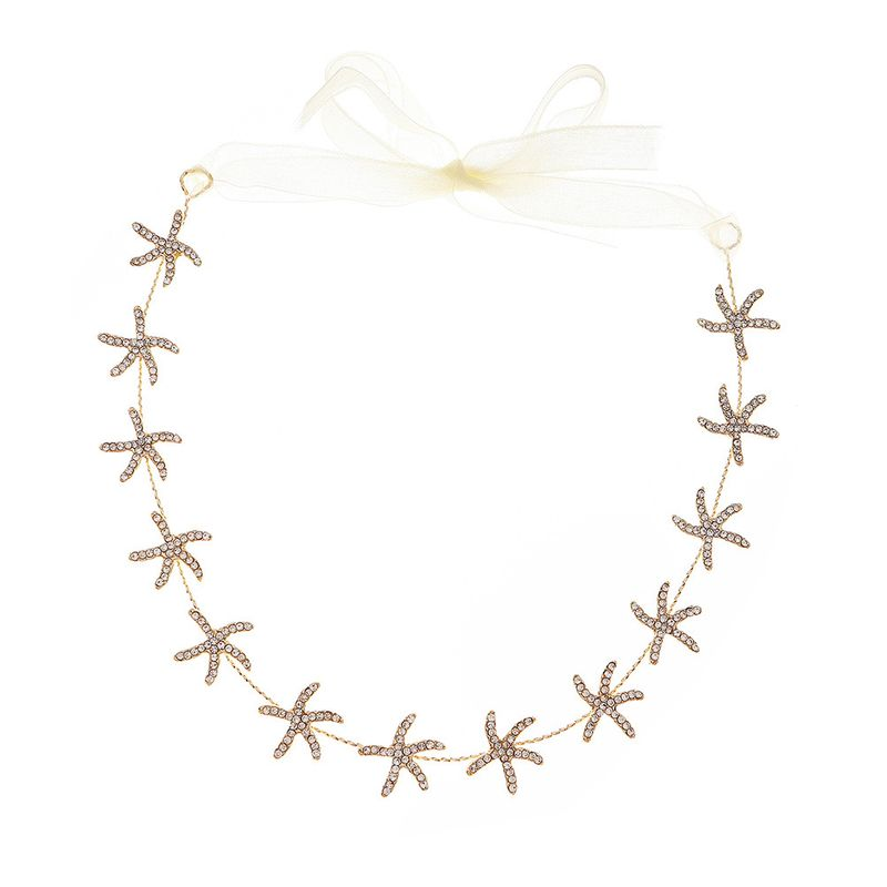 Korean sweet bridal headdress daily wild star hair band light luxury rhinestone hair band bridesmaid dress hair accessories  wholesale nihaojewelry NHHS221432
