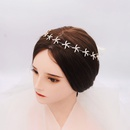 Korean sweet bridal headdress daily wild star hair band light luxury rhinestone hair band bridesmaid dress hair accessories  wholesale nihaojewelry NHHS221432