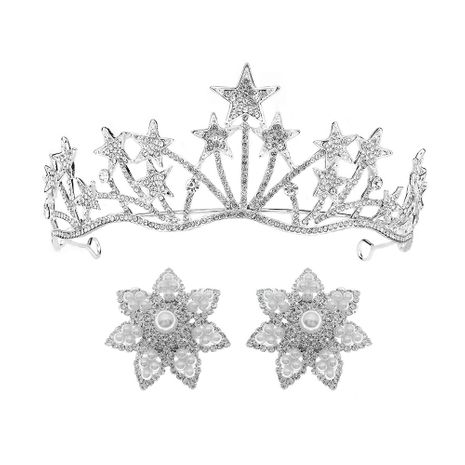 Bridal Jewelry Japan and South Korea Photography Photo Crown Earring Set Exquisite Hairband Birthday Party Goddess Headdress  wholesale nihaojewelry NHHS221438's discount tags